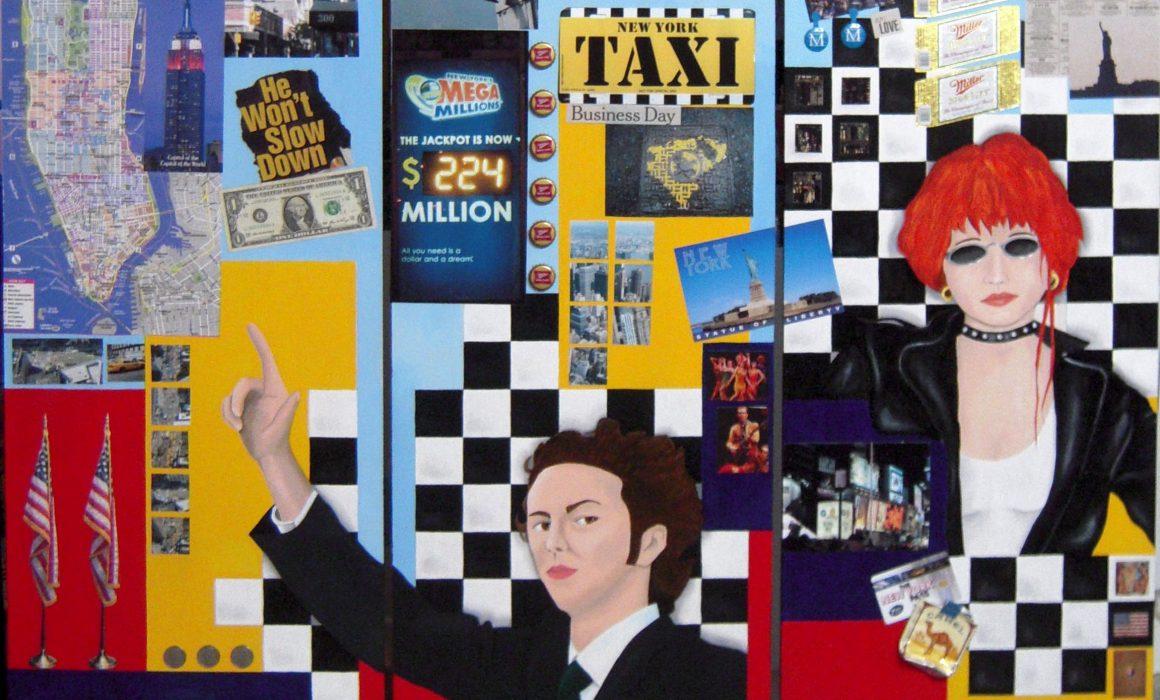 Yellow cab (Triptyque) (120x120cm, 2011)
